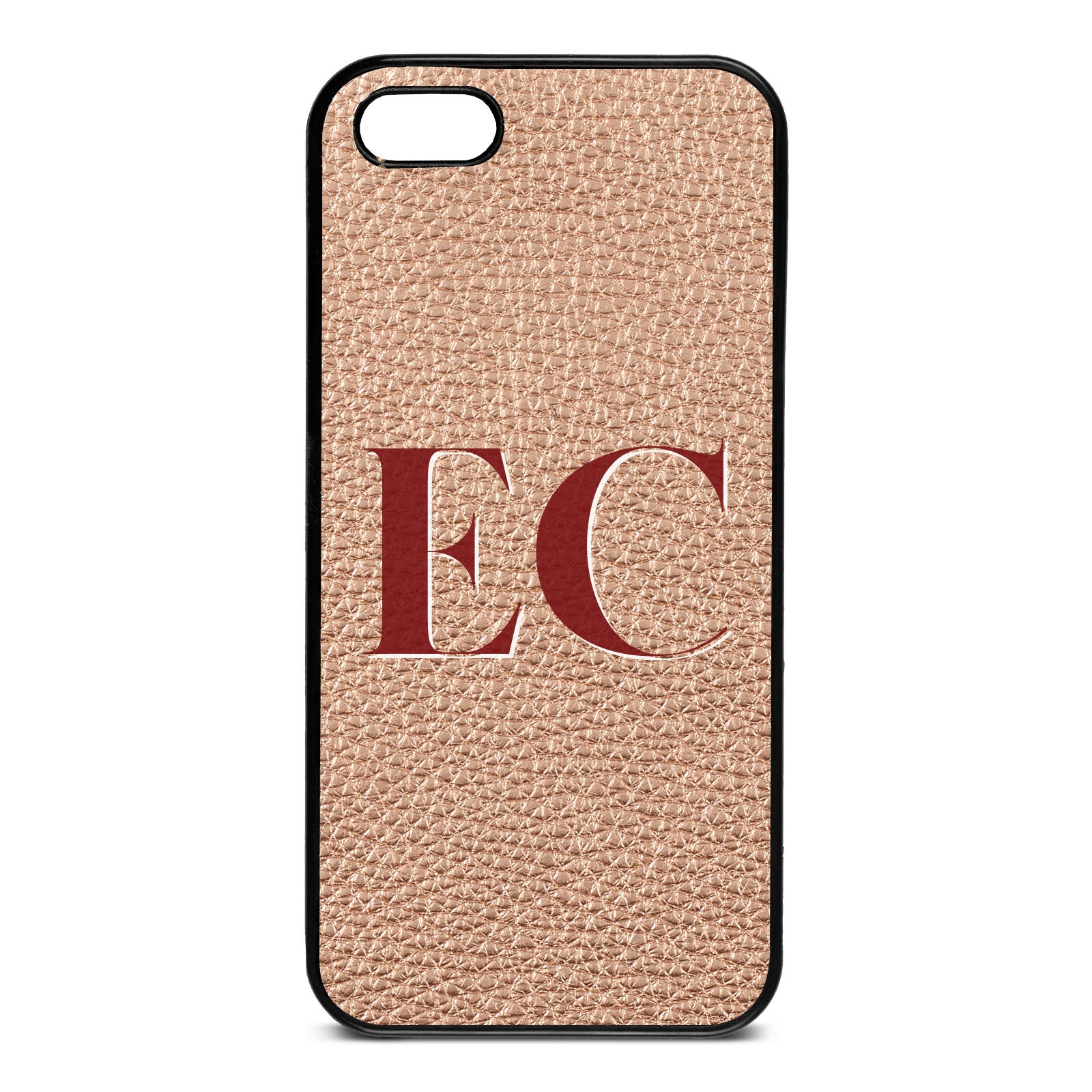 iPhone 5 Rose Gold Pebble Leather Case