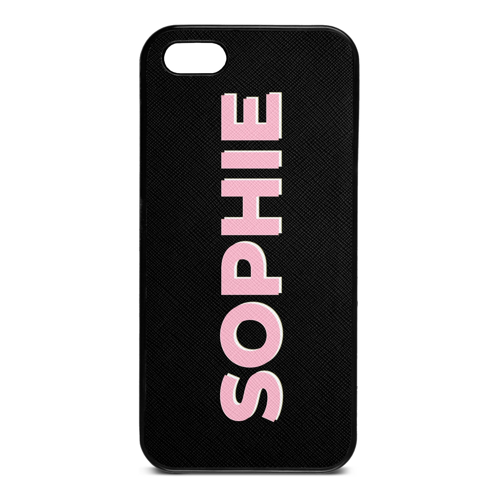 iPhone 5 Drop Shadow Black Leather Case