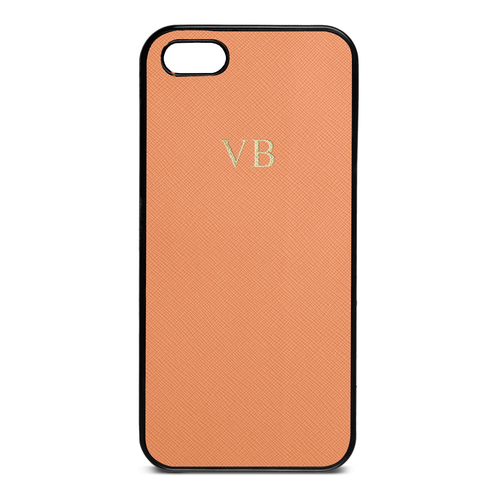 Personalised Orange Saffiano Leather iPhone 5 Case