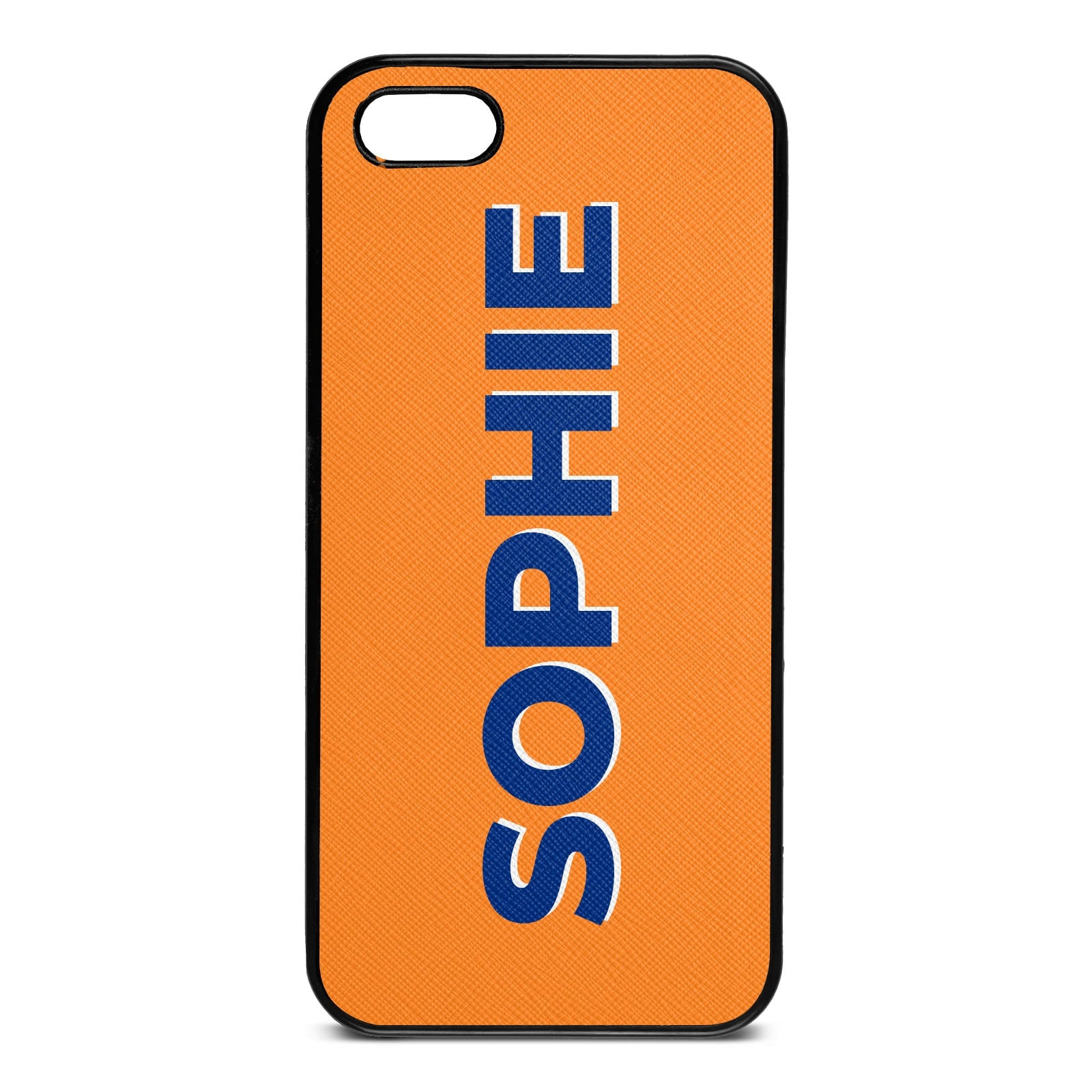 Personalised Saffron Saffiano Leather iPhone 5 Case