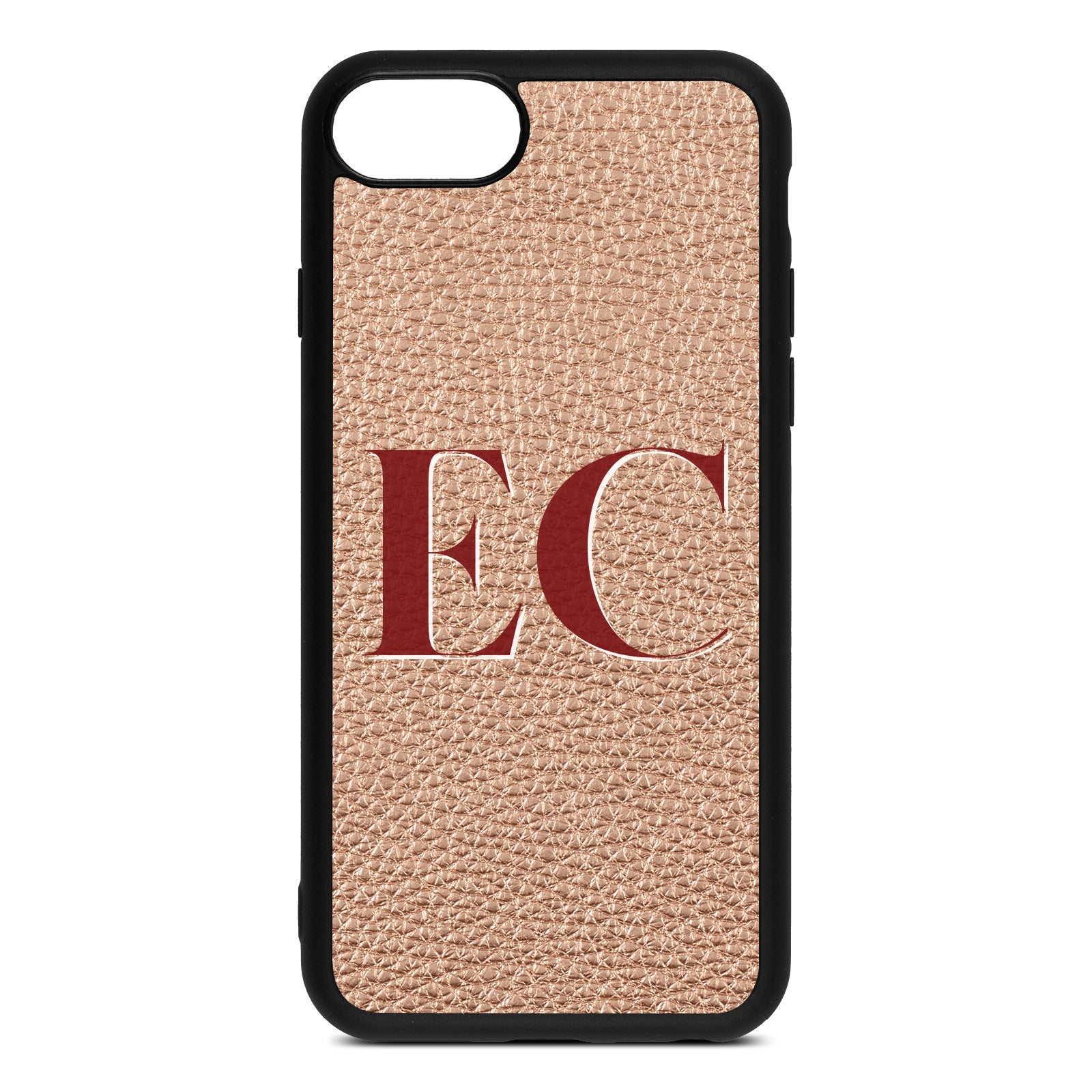 iPhone 8 Rose Gold Pebble Leather Case