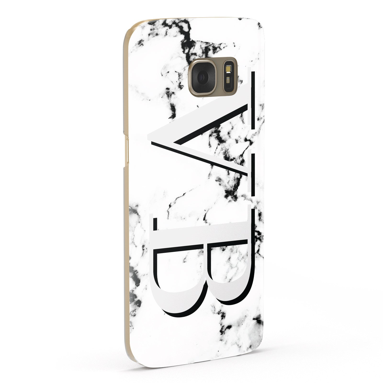 Personalised Landscape Initials With Marble Samsung Galaxy Case Fourty Five Degrees