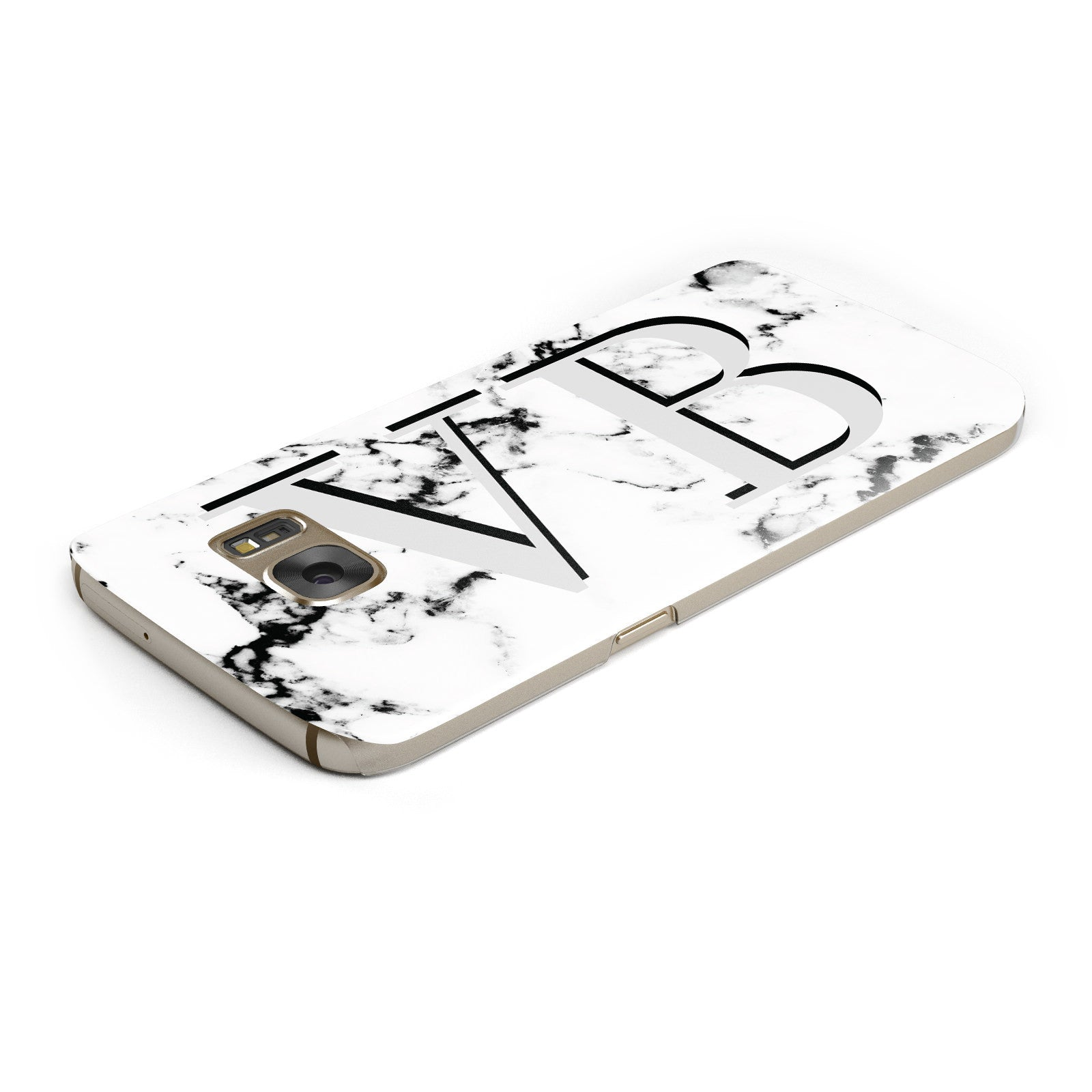 Personalised Landscape Initials With Marble Samsung Galaxy Case Top Cutout