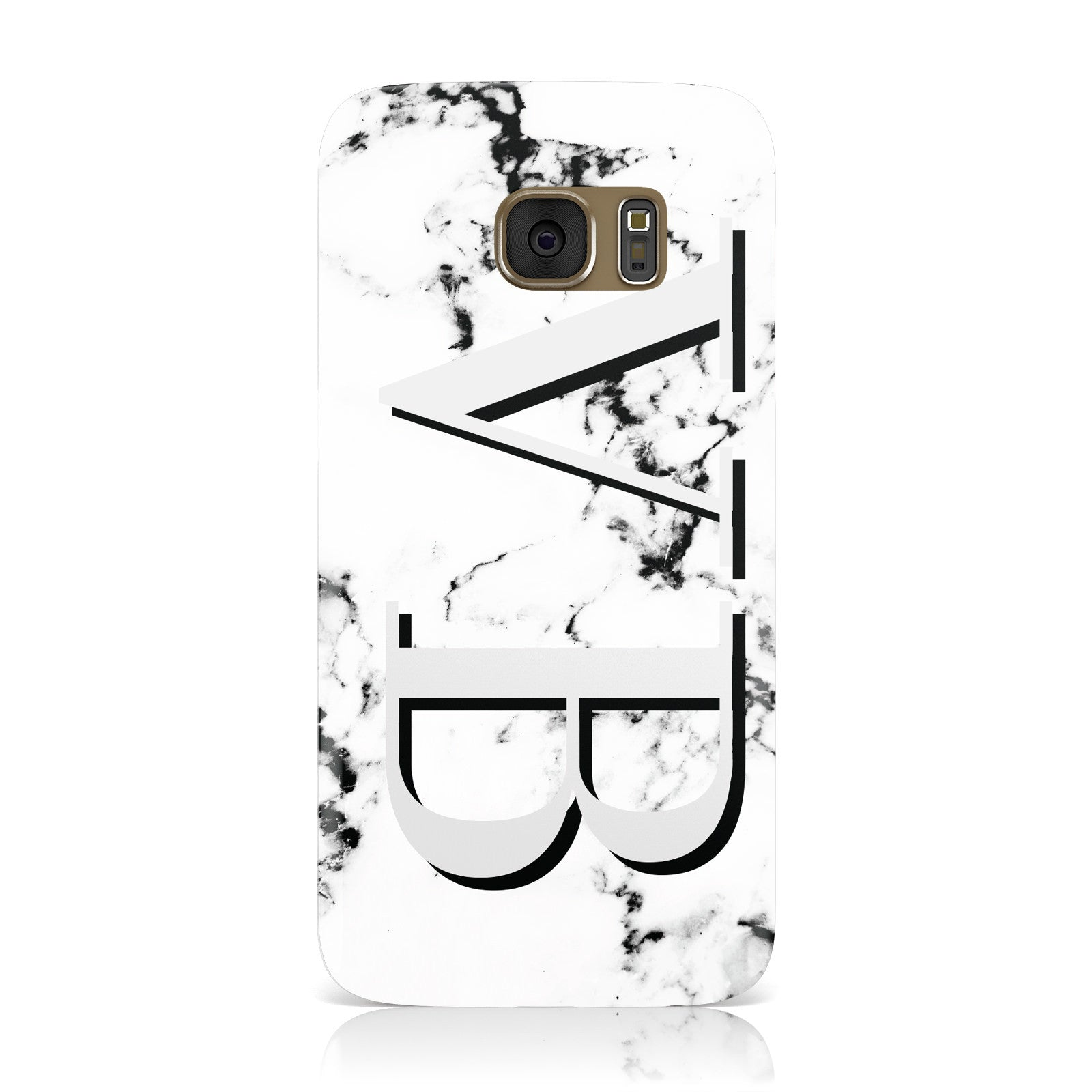 Personalised Landscape Initials With Marble Samsung Galaxy Case