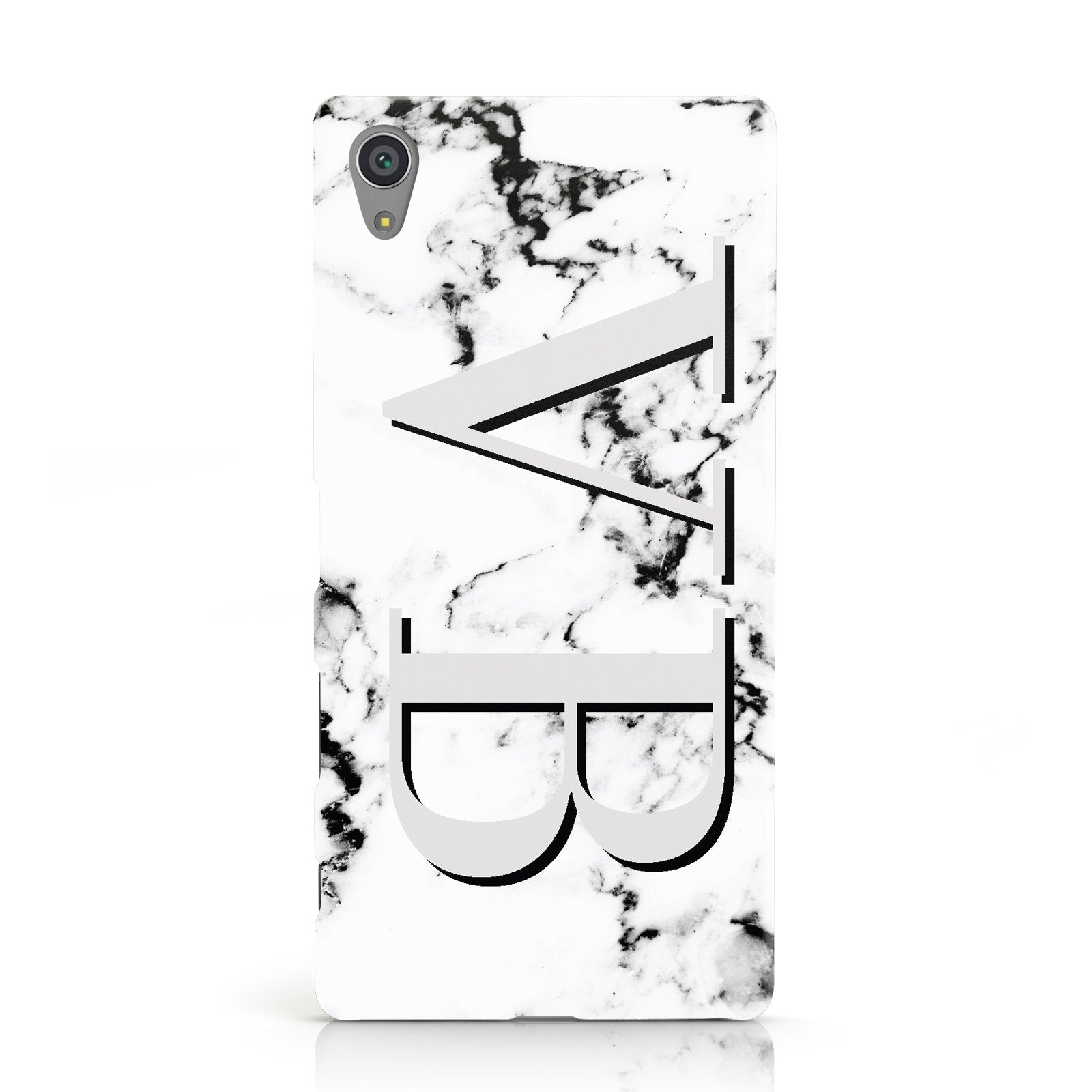 Personalised Landscape Initials With Marble Sony Xperia Case