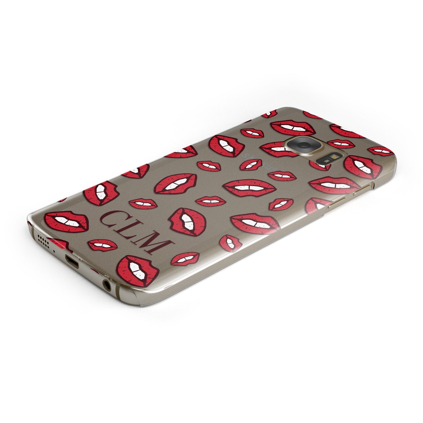 Personalised Lips Initials Samsung Galaxy Case Bottom Cutout