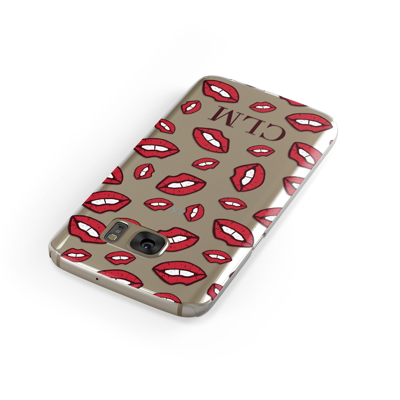 Personalised Lips Initials Samsung Galaxy Case Front Close Up