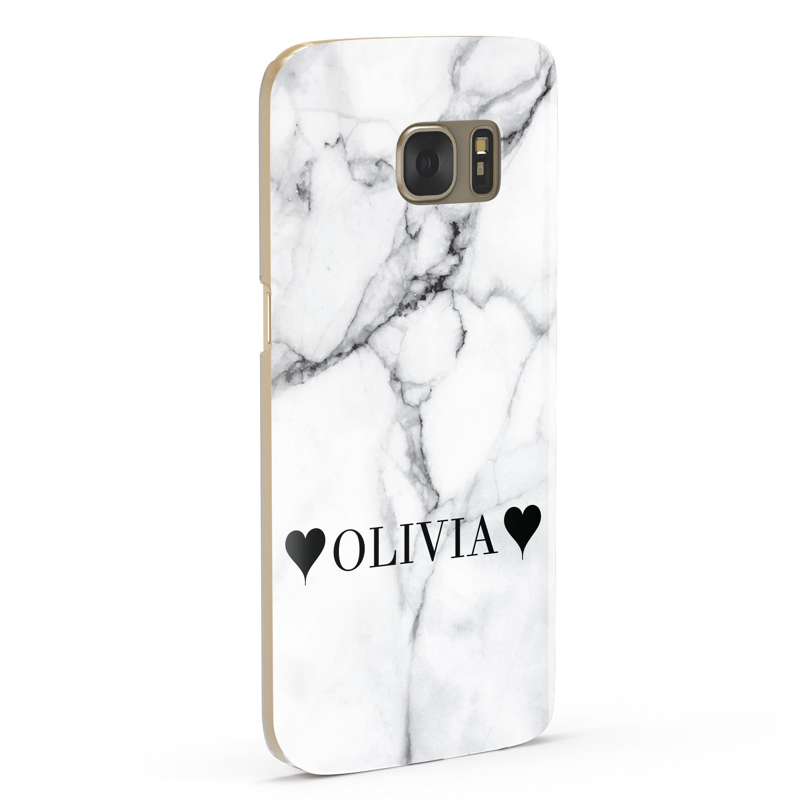 Personalised Love Hearts Marble Name Samsung Galaxy Case Fourty Five Degrees