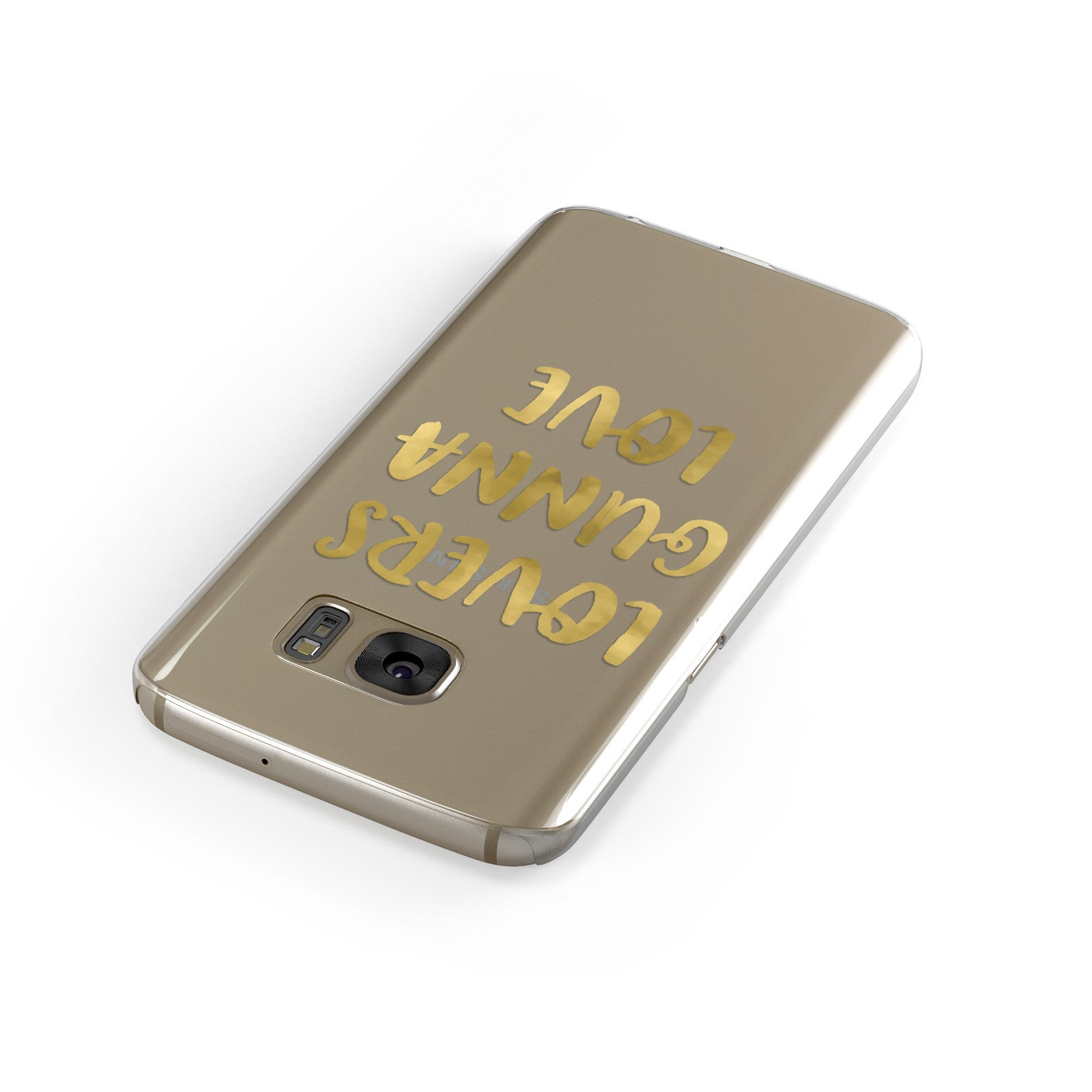 Lovers Gunna Love Real Gold Foil Samsung Galaxy Case Front Close Up