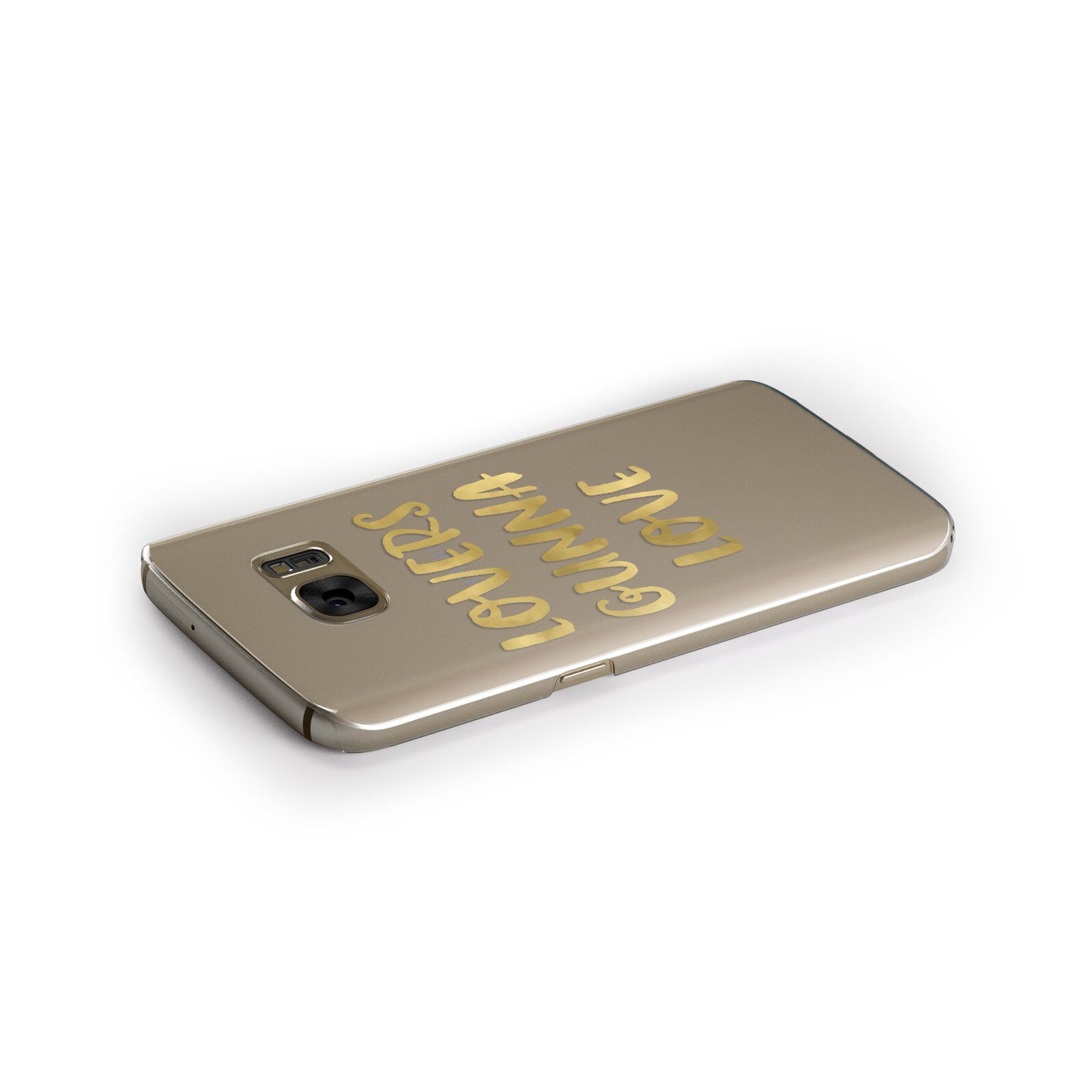 Lovers Gunna Love Real Gold Foil Samsung Galaxy Case Side Close Up