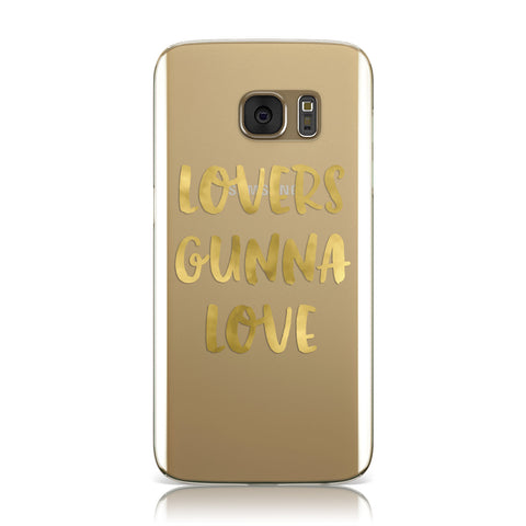 Lovers Gunna Love Real Gold Foil Samsung Galaxy Case