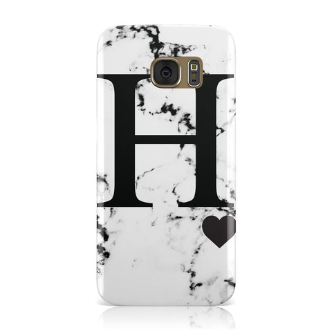 Marble Big Initial Personalised Samsung Galaxy Case