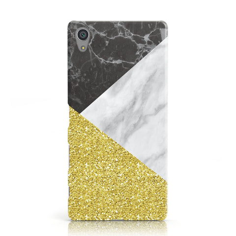 Marble Black Gold Sony Xperia Case