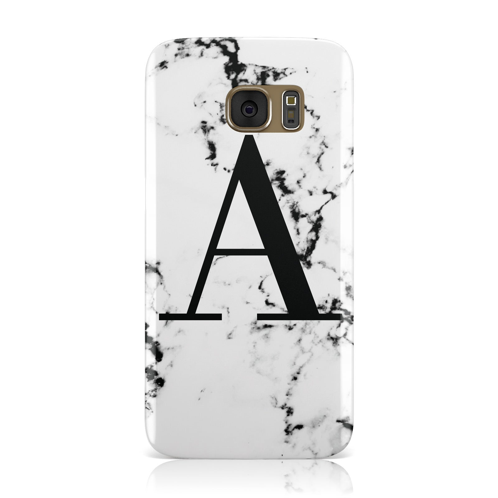 Marble Black Initial Personalised Samsung Galaxy Case