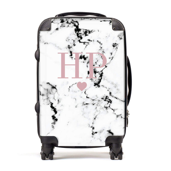 9757710de5 Marble Blush Pink Initial   Heart Personalised Suitcase