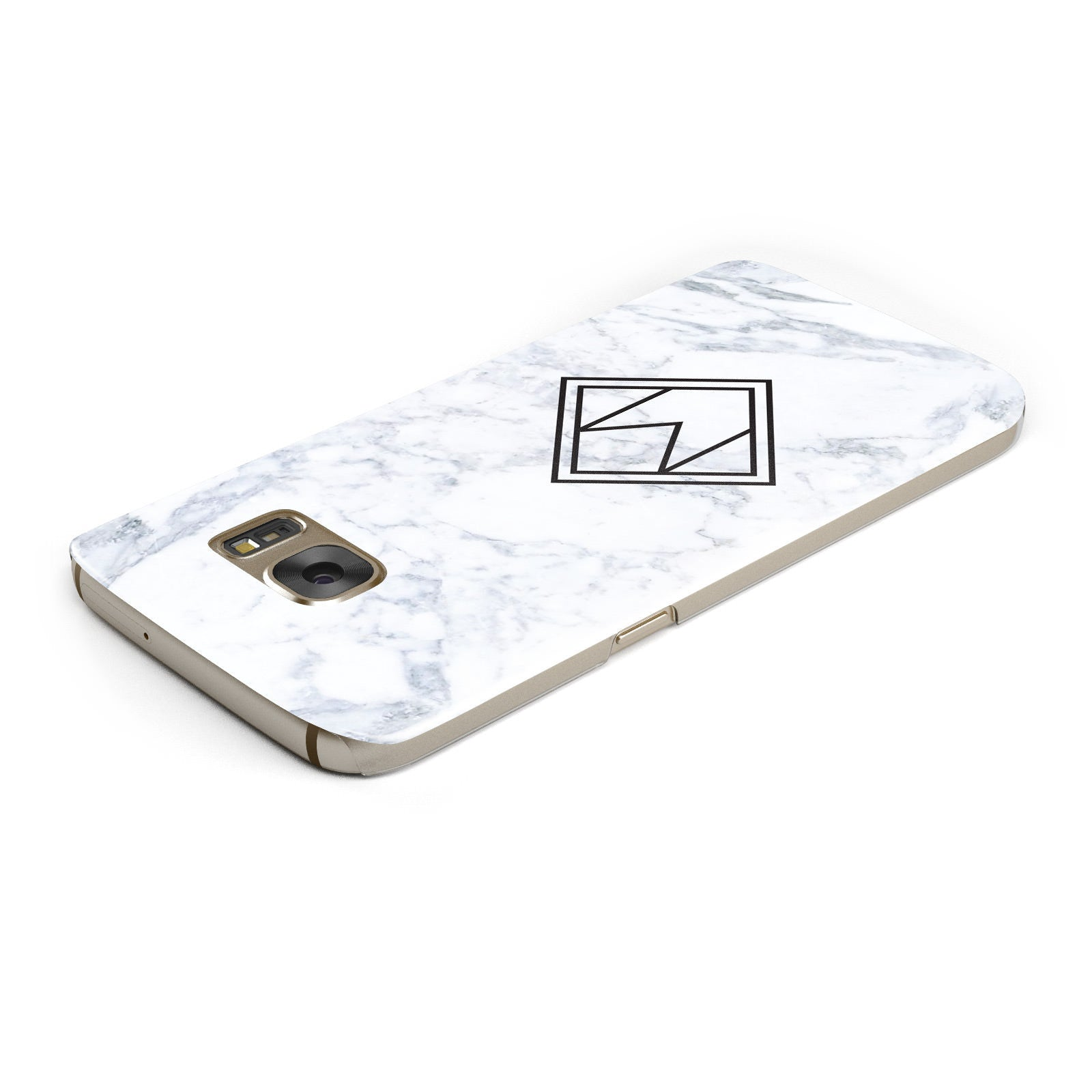 Personalised Marble Customised Initials Samsung Galaxy Case Top Cutout