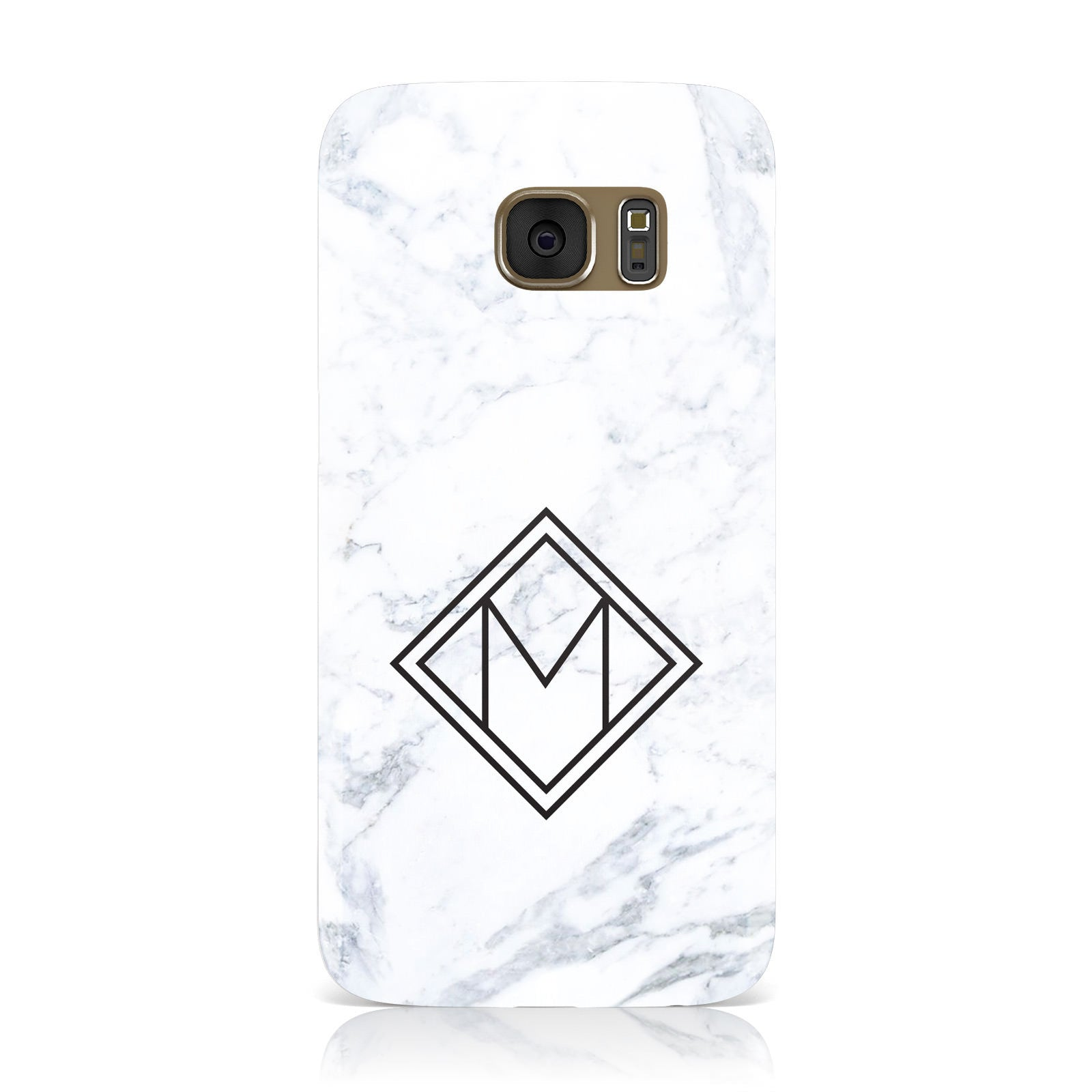 Personalised Marble Customised Initials Samsung Galaxy Case