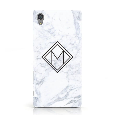 Personalised Marble Customised Initials Sony Xperia Case