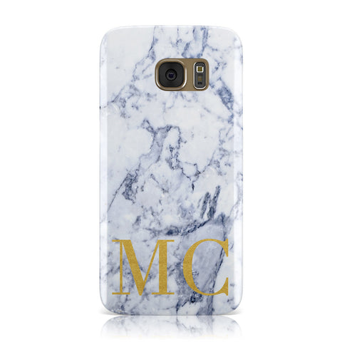 Marble Gold Initial Personalised Samsung Galaxy Case