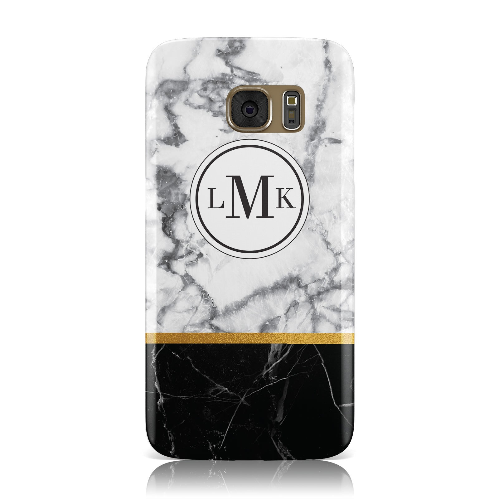 Marble Initials Geometric Personalised Samsung Galaxy Case