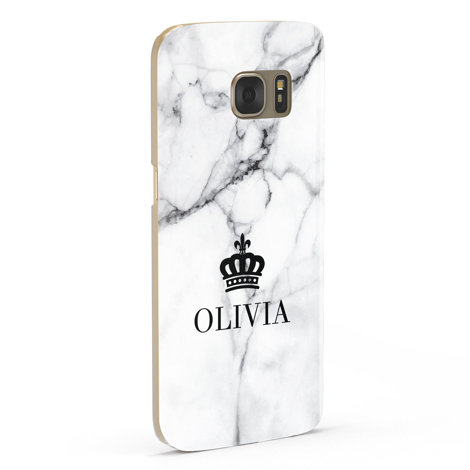 Personalised Marble Name Crown Samsung Galaxy Case Fourty Five Degrees