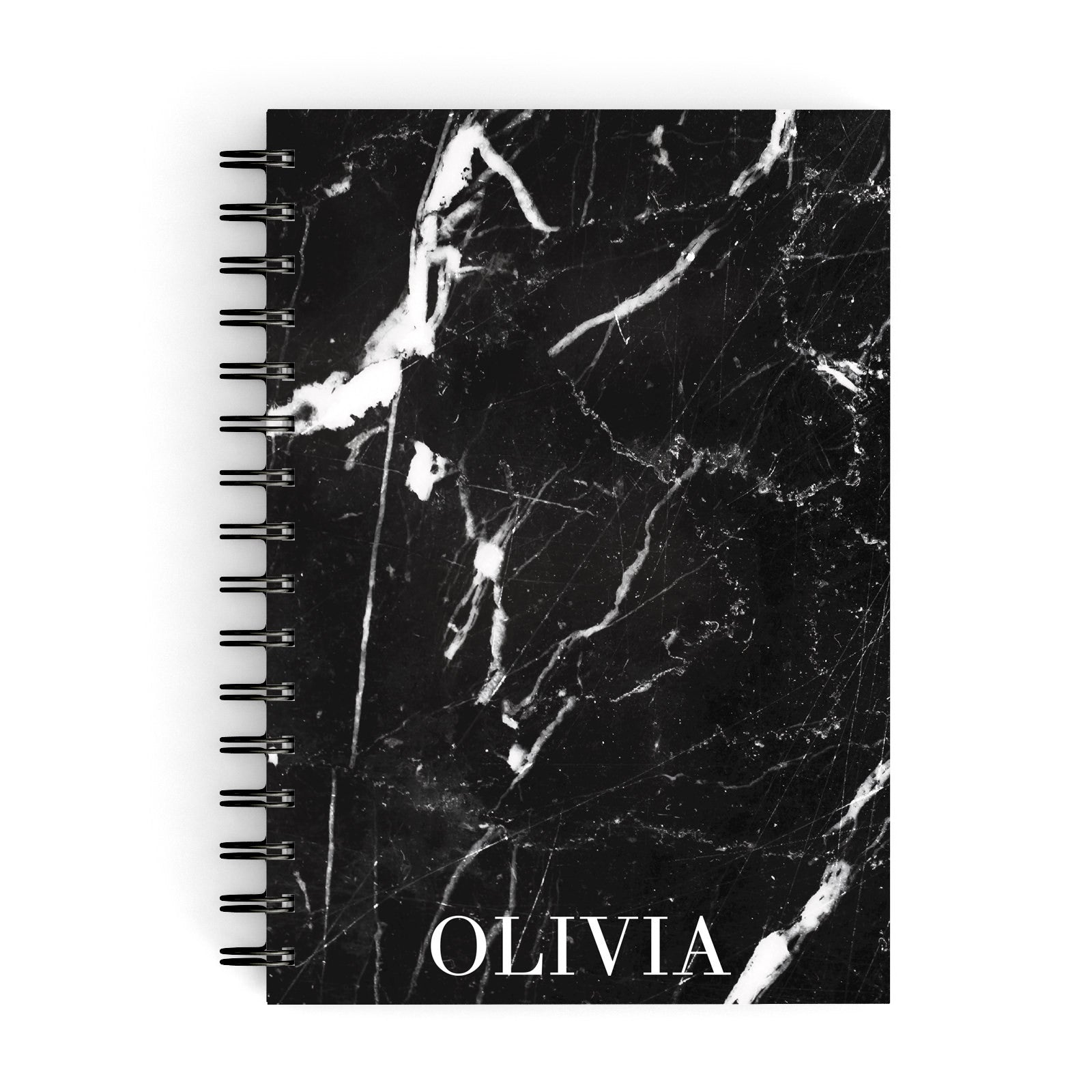Marble Name Personalised A5 Hardcover Notebook