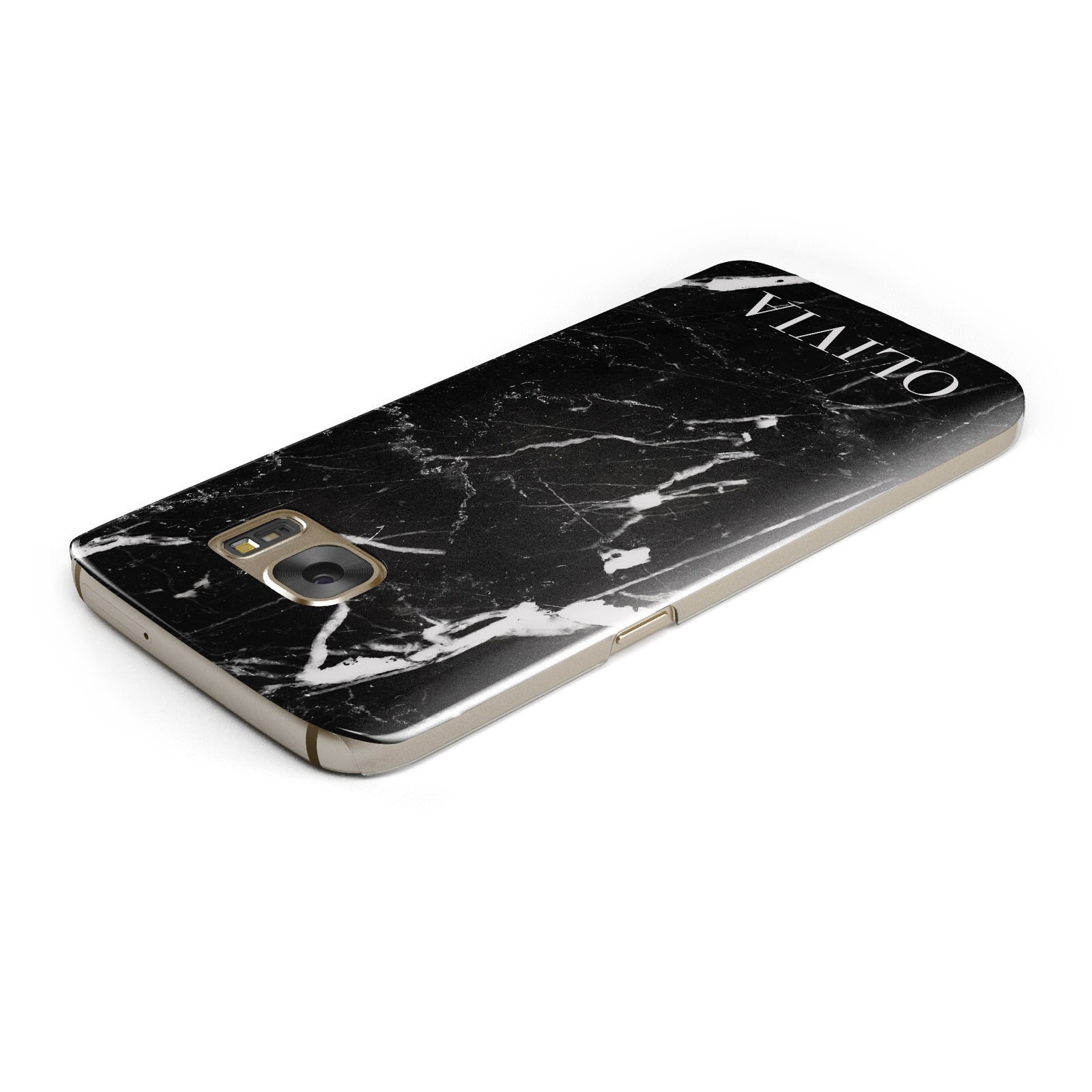 Marble Name Personalised Samsung Galaxy Case Top Cutout