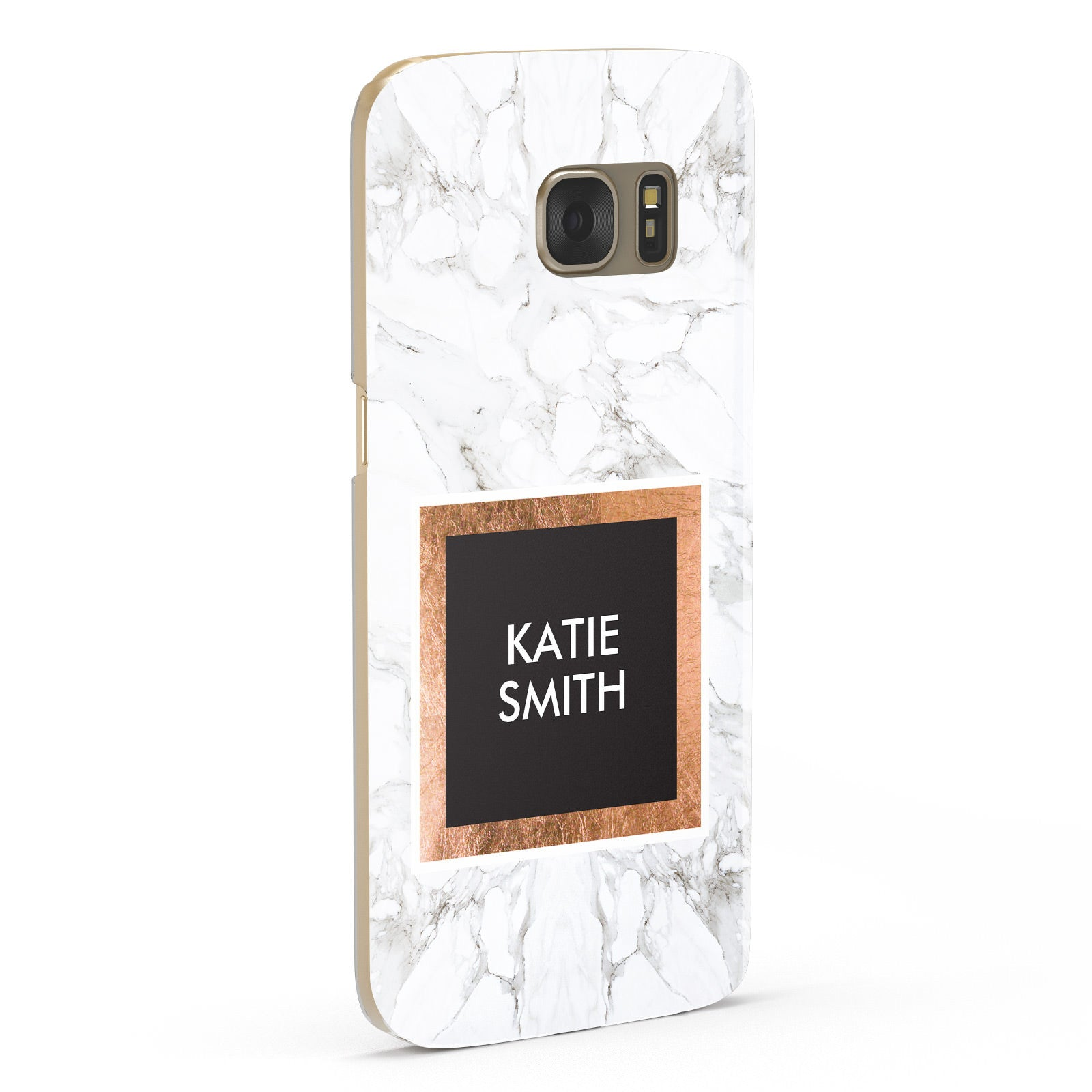 Personalised Marble Name Text Initials Samsung Galaxy Case Fourty Five Degrees