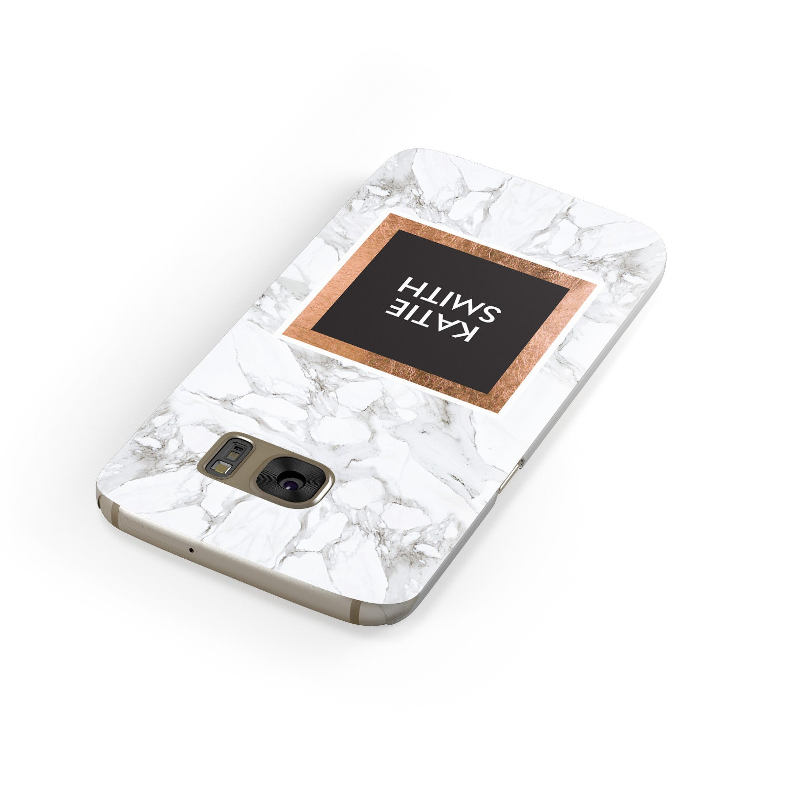 Personalised Marble Name Text Initials Samsung Galaxy Case Front Close Up