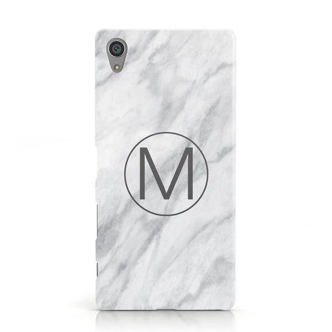 Marble Personalised Initial Sony Xperia Case