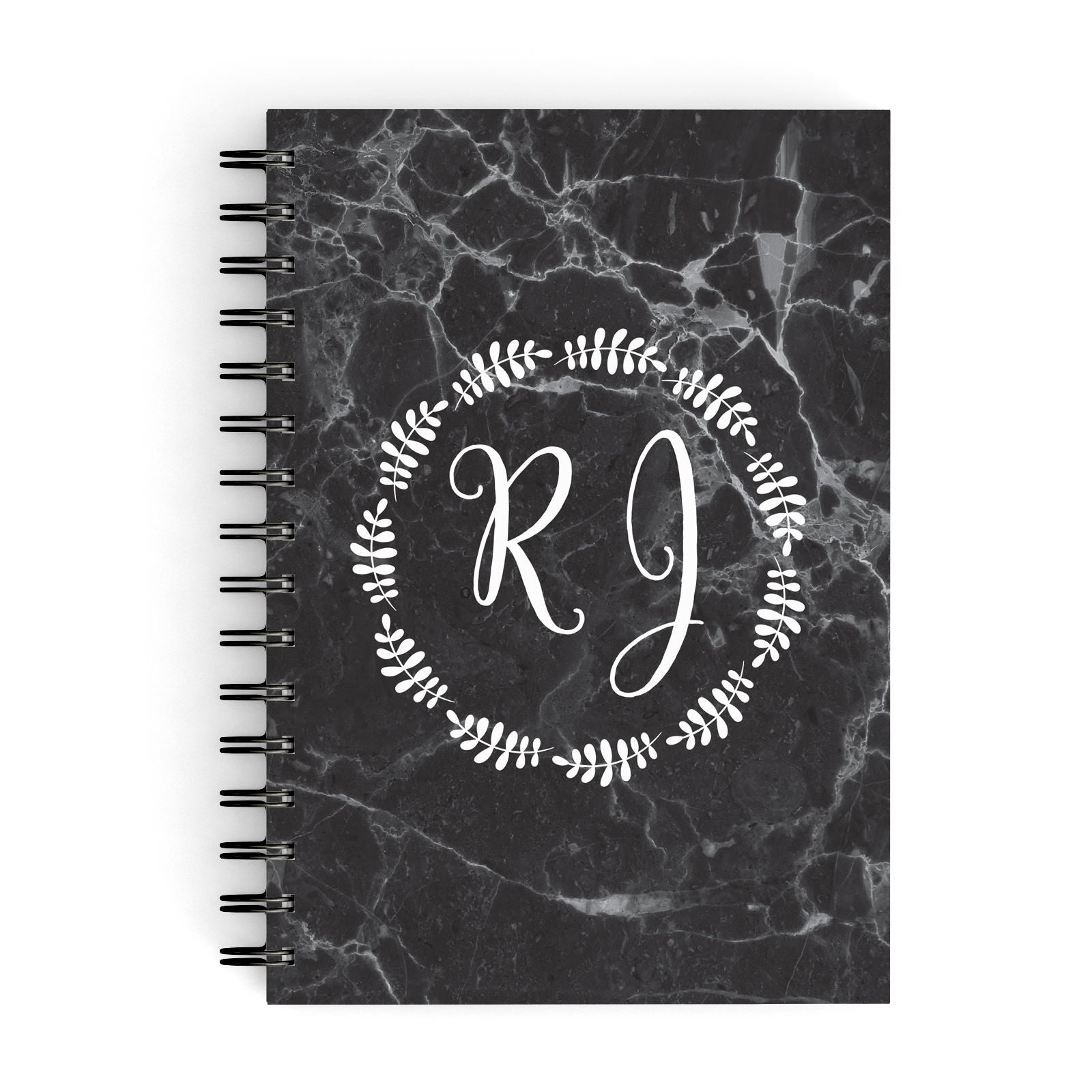 Marble Personalised Initials A5 Hardcover Notebook