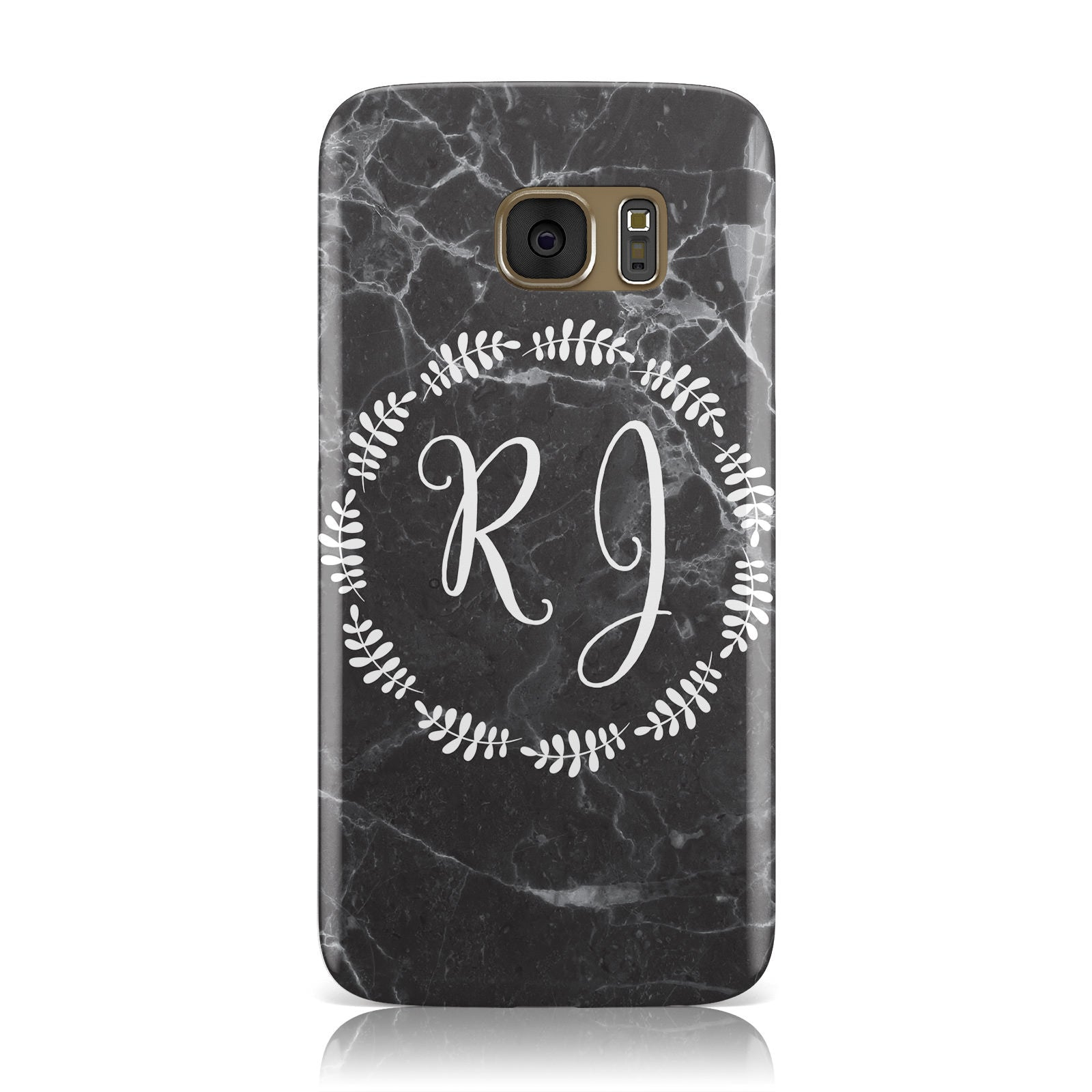 Marble Personalised Initials Samsung Galaxy Case