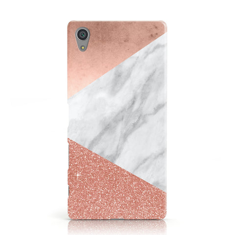 Marble Rose Gold Foil Sony Xperia Case