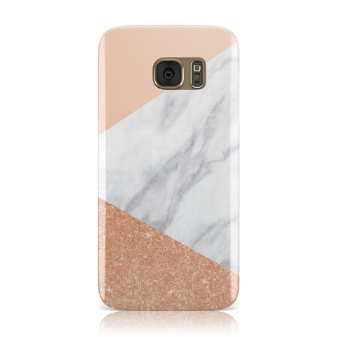 Marble Rose Gold Pink Samsung Galaxy Case