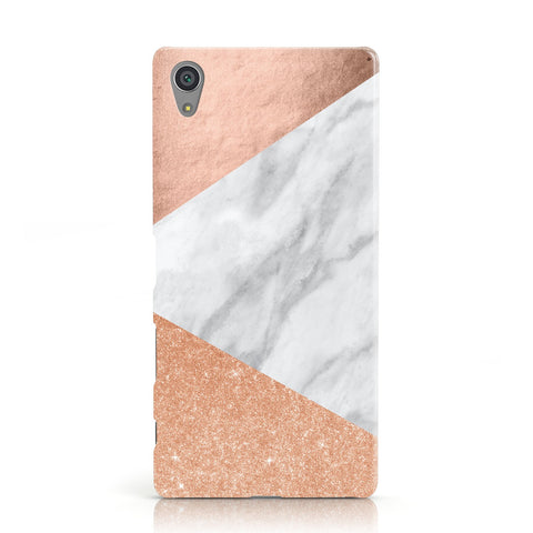Marble Rose Gold Sony Xperia Case