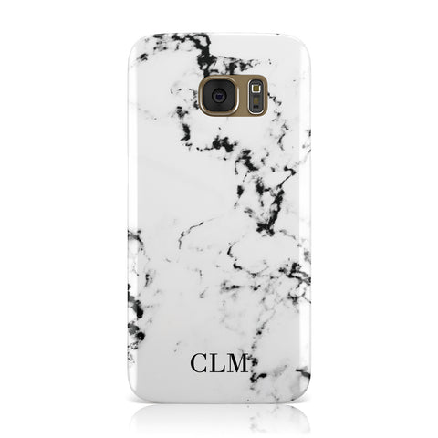Marble Small Initials Personalised Samsung Galaxy Case