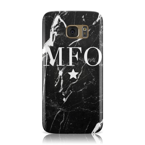 Marble Star Initials Personalised Samsung Galaxy Case
