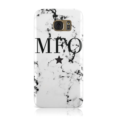 Marble Star Personalised Initials Samsung Galaxy Case