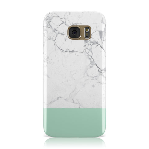 Marble White Carrara Green Samsung Galaxy Case
