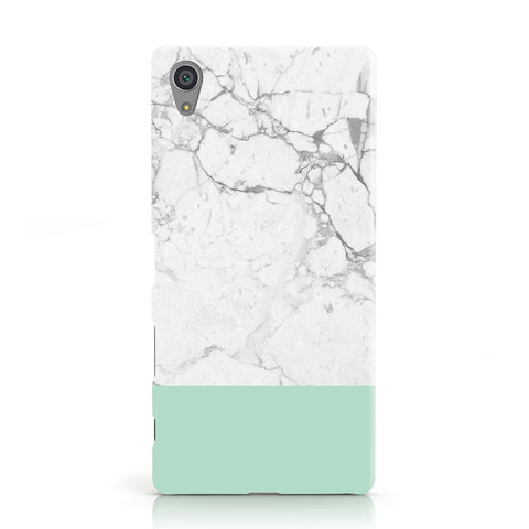 Marble White Carrara Green Sony Xperia Case