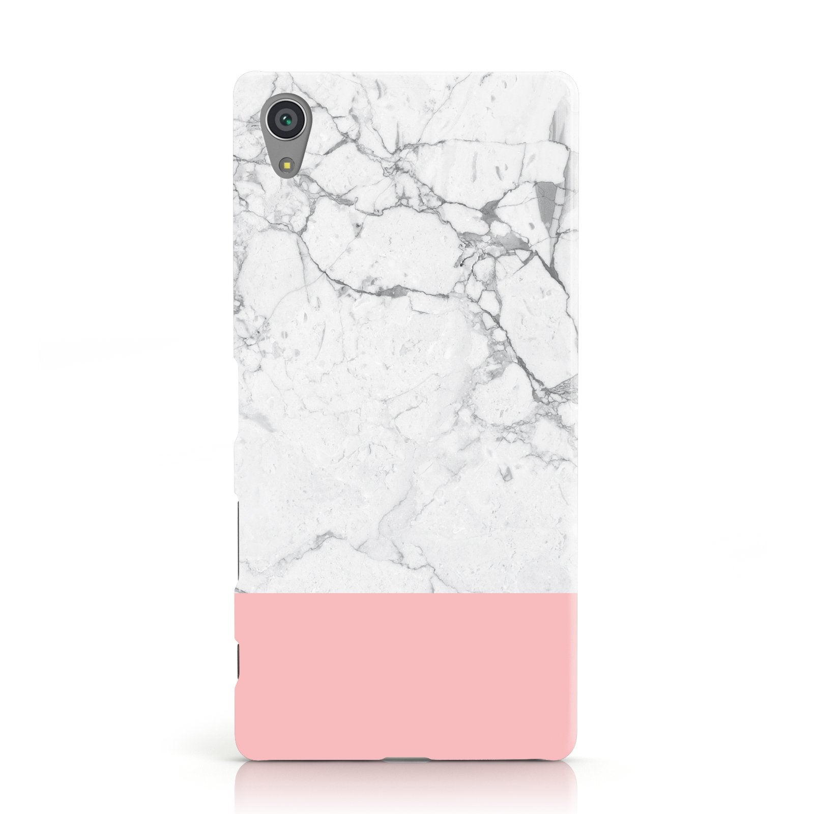 Marble White Carrara Pink Sony Xperia Case