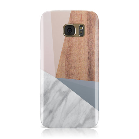 Marble Wood Geometric 1 Samsung Galaxy Case