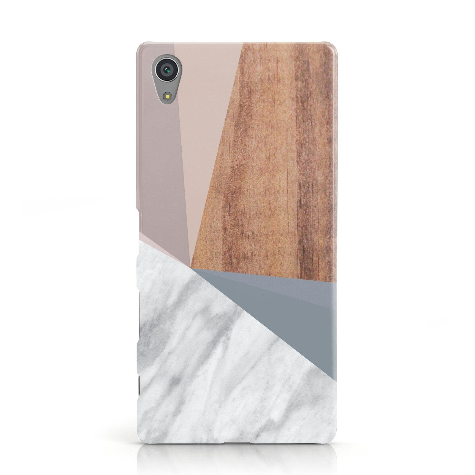 Marble Wood Geometric 1 Sony Xperia Case