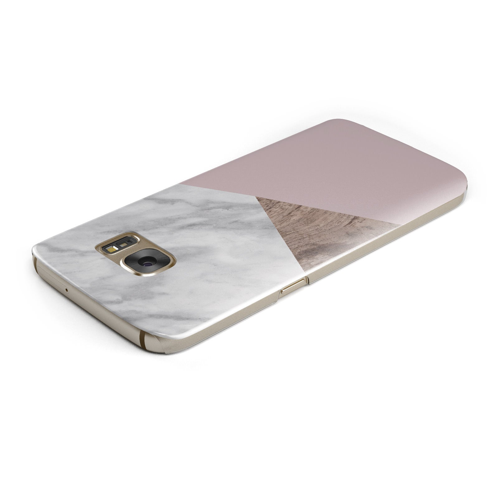 Marble Wood Geometric 3 Samsung Galaxy Case Top Cutout