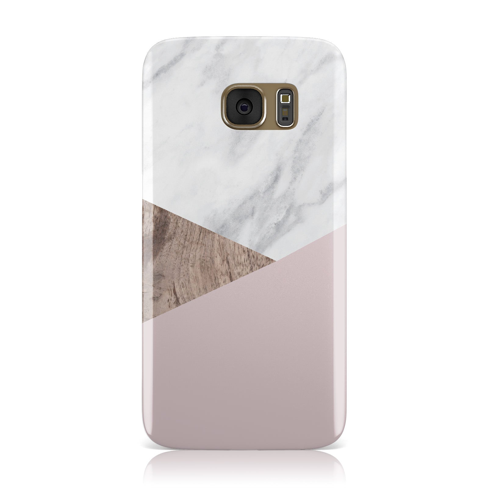 Marble Wood Geometric 3 Samsung Galaxy Case