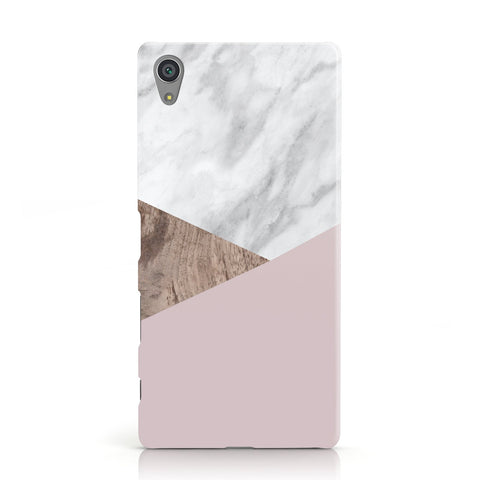 Marble Wood Geometric 3 Sony Xperia Case