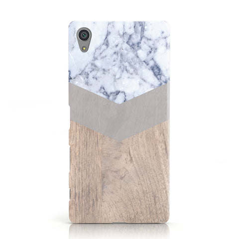 Marble Wood Geometric 4 Sony Xperia Case