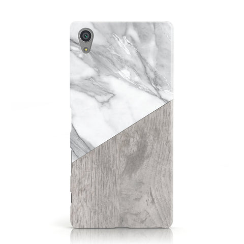 Marble Wood Geometric 5 Sony Xperia Case