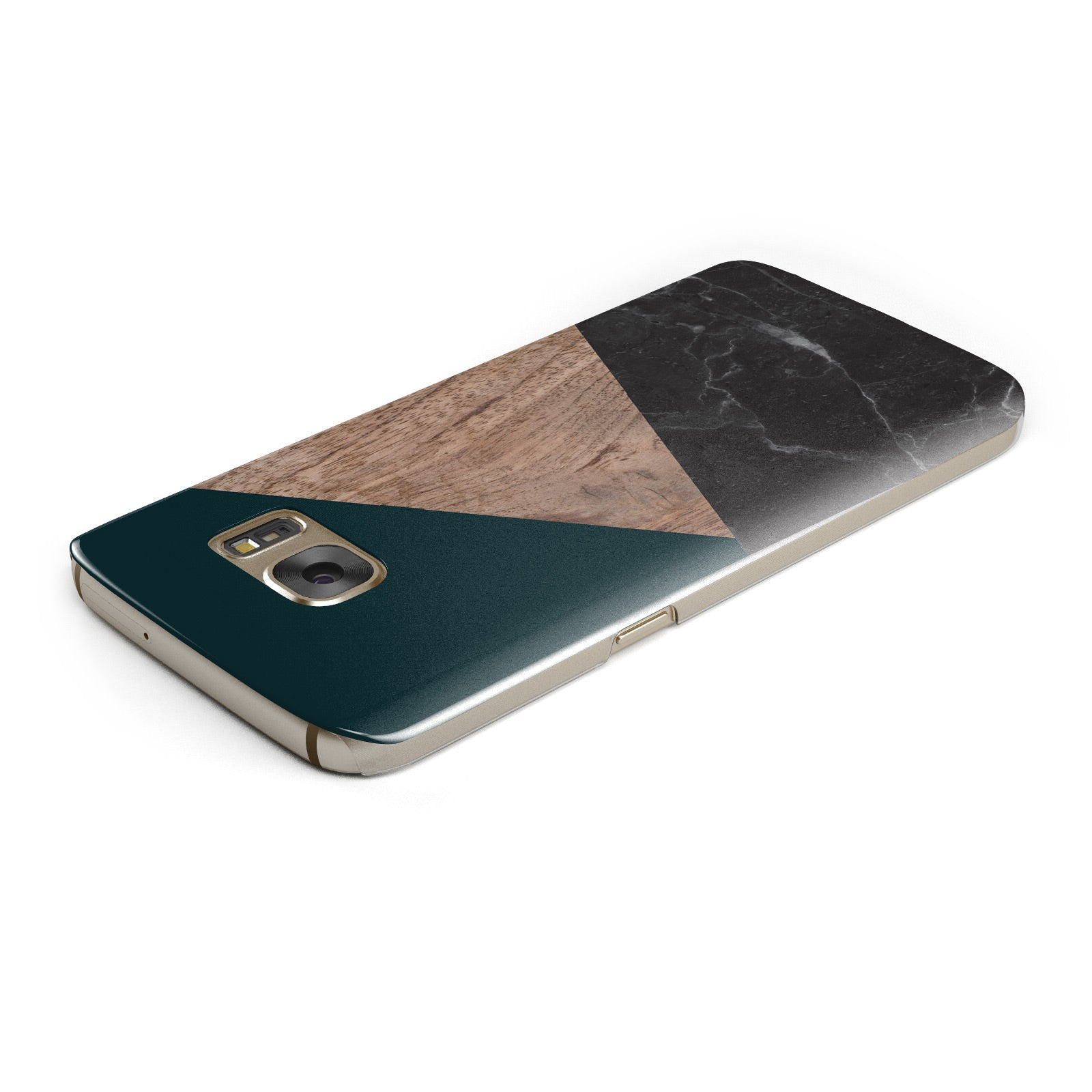 Marble Wood Geometric 6 Samsung Galaxy Case Top Cutout