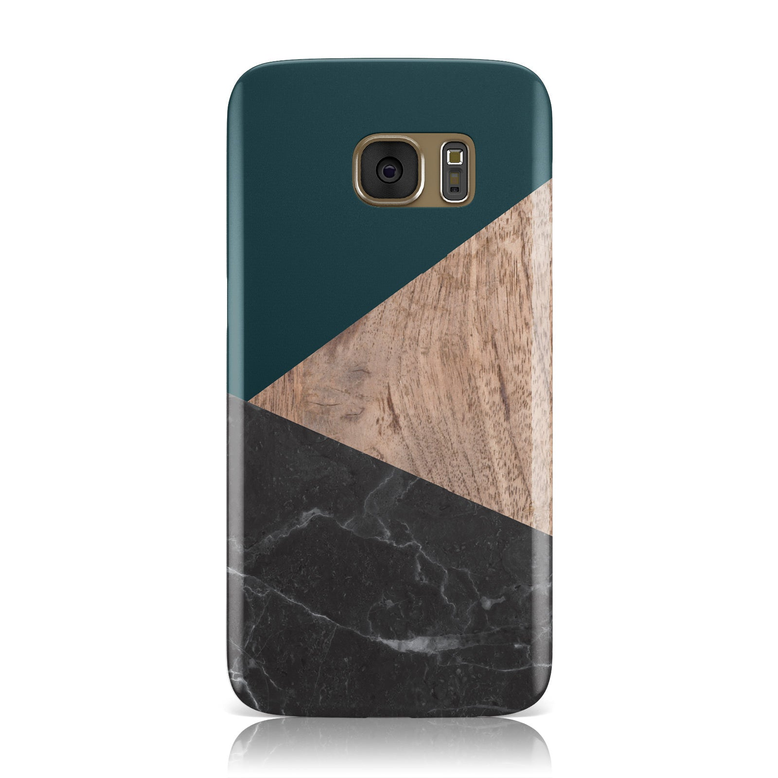 Marble Wood Geometric 6 Samsung Galaxy Case
